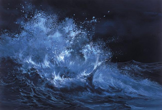 绘画艺术 艺术画 手绘美术 插画 手绘插画 电脑美术 电脑绘画 海浪