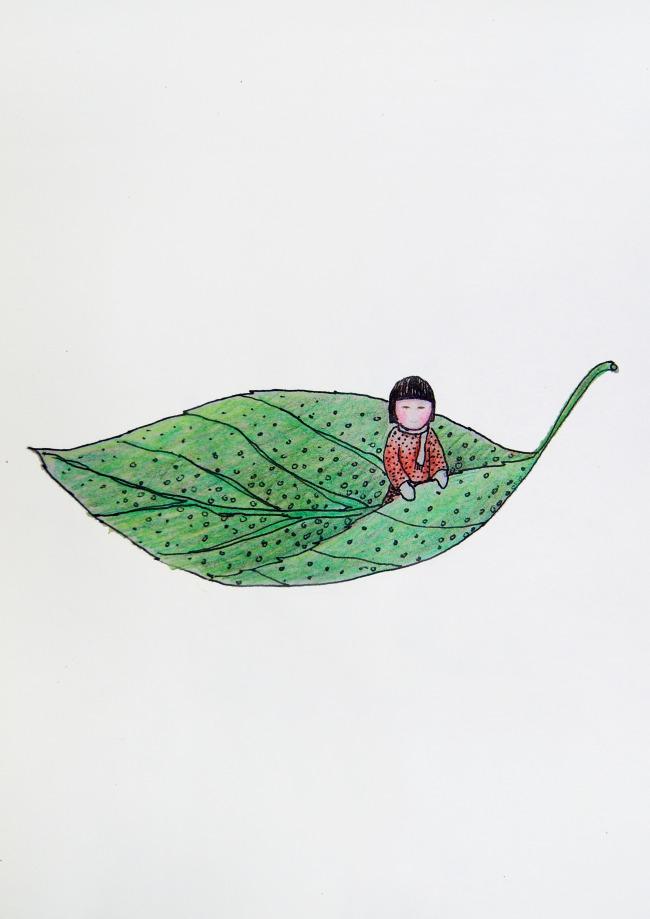 创意手绘插画彩铅