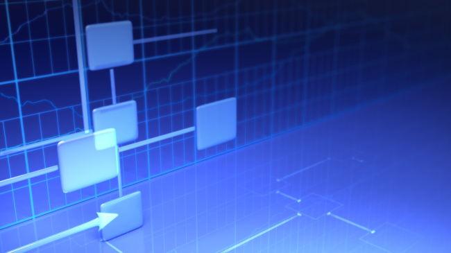 蓝色商务科技流程背景视频素材模板下载(图片编号:)