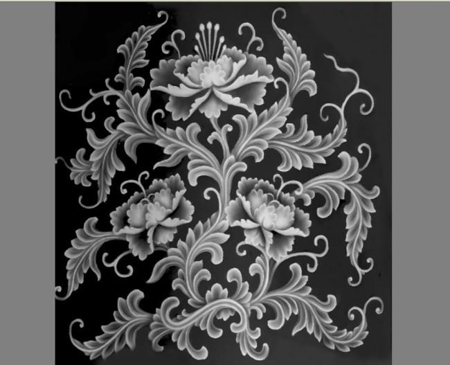 灰度图浮雕模板下载 11078573 雕刻图案 装饰画 背景墙图片