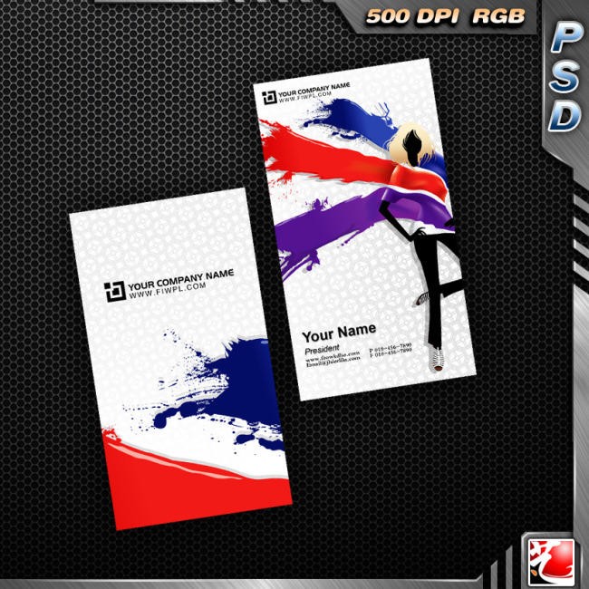 服装设计行业名片模板下载