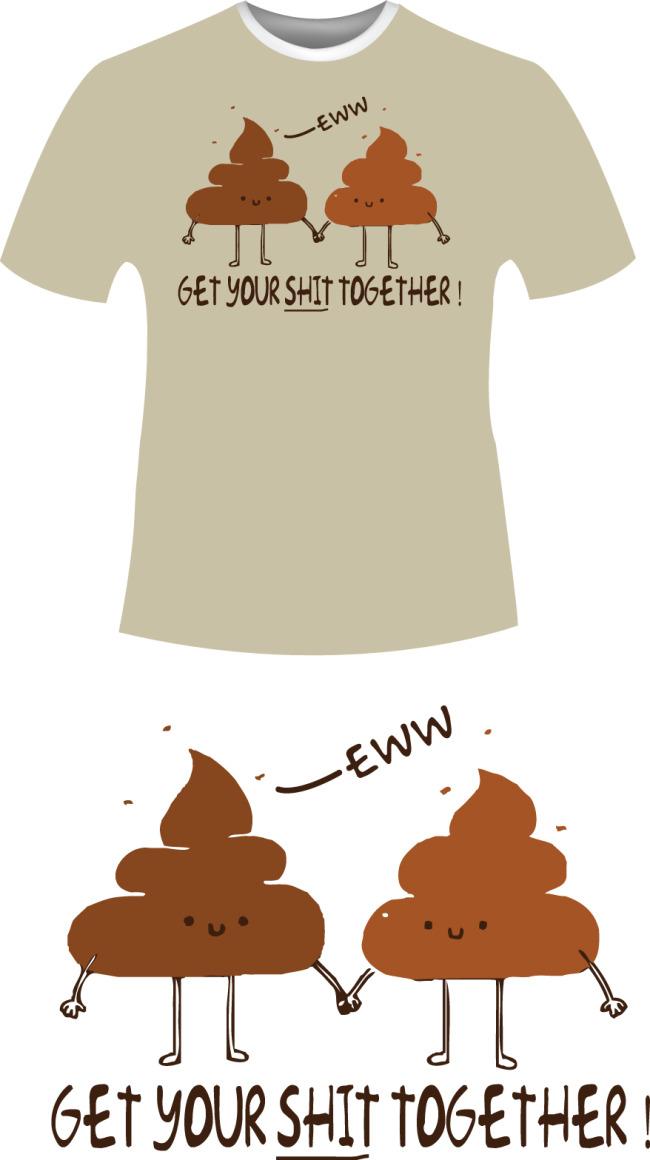 创意潮流t恤衫设计图