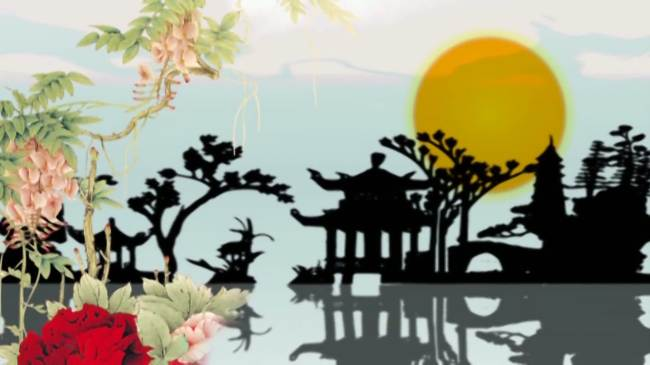 中国风牡丹亭模板下载 11084325 LED视频素材 AE模版