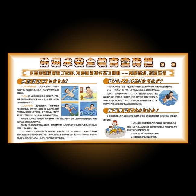 最新防溺水安全教育宣传栏图片下载模板下载 11090541 安全展板设计