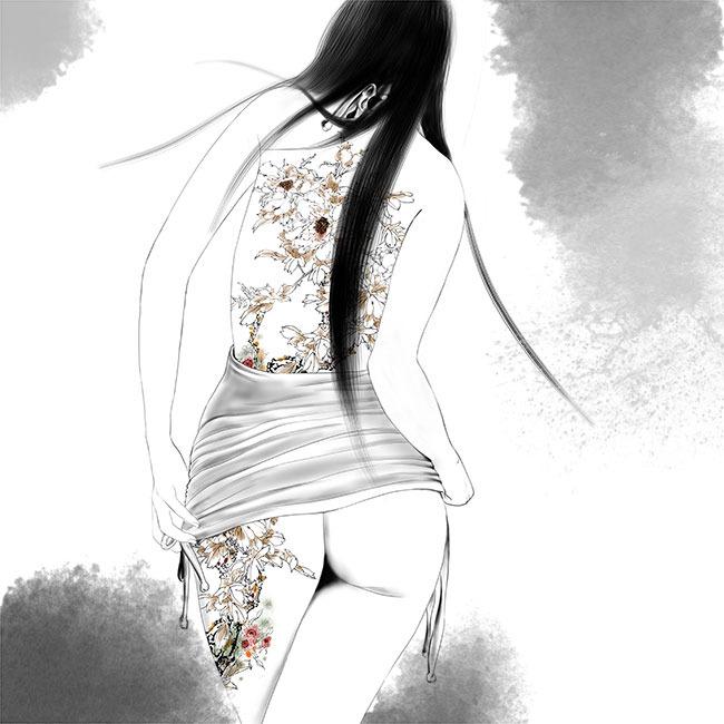 原创手绘图片下载 手绘手绘人物唯美唯美图片美女 水墨 水墨效果 工笔