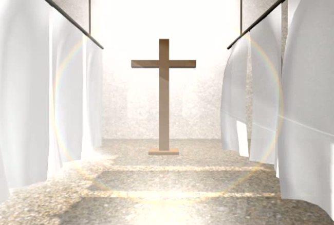 十字架基督教宗教动态视频背景素材模板下载(