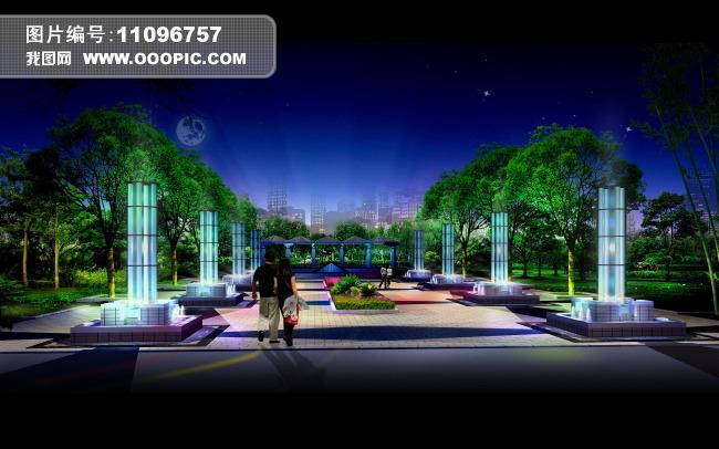 园林设计 绿化设计效果图图片