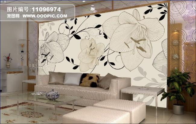 客厅电视墙 大厅壁画 壁画 墙纸 酒店壁画 室内装饰图片 欧式花纹 花