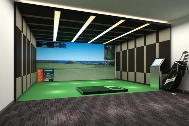 室内高尔夫球场3dmax模型