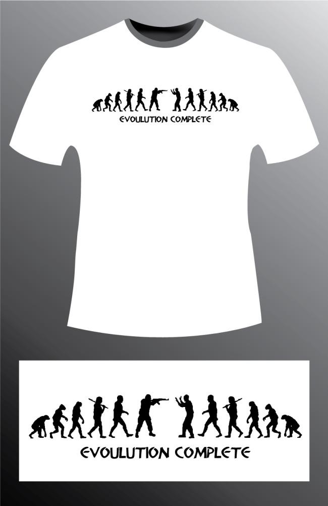 潮流创意t恤衫设计图