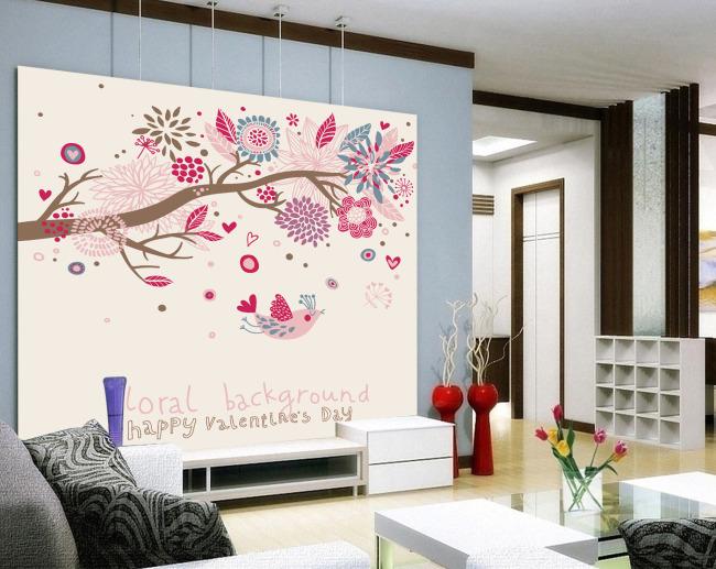 手绘客厅背景墙