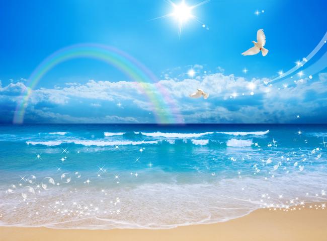 平面设计 其他 其它 > 海边沙滩自然风景  下一张> [版权