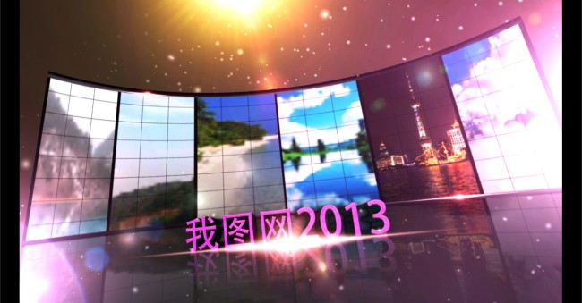大气led大屏幕舞台背景展示ae模板