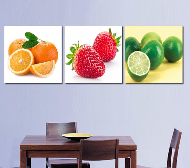 餐厅水果图片下载 餐厅水果      书房      三联无框画 装饰画 壁画