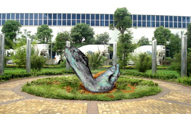 ps效果图圆雕设计雕塑设计