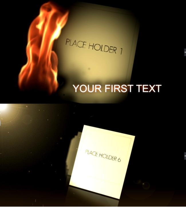 燃烧的记忆ae电子相册模板图片