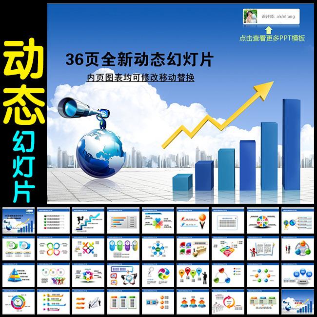 公司业绩报告年度计划年终总结ppt模板