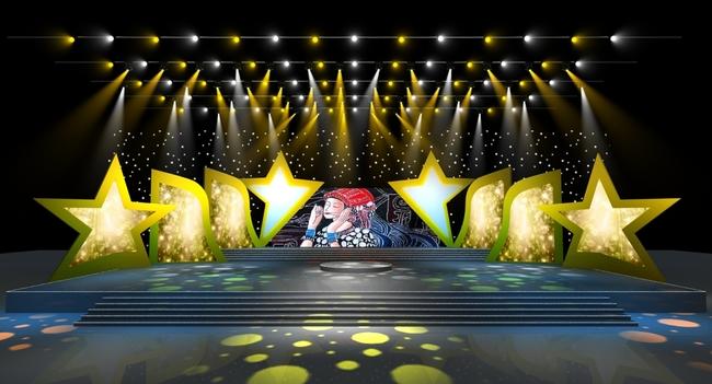 歌手大赛舞台舞美设计效果图