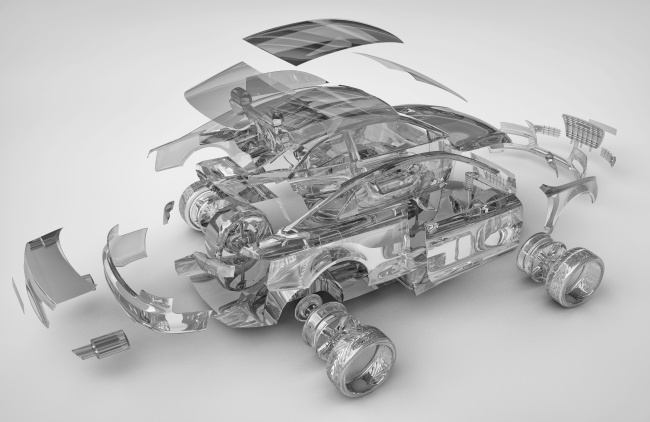 汽车零部件拆分高清图片