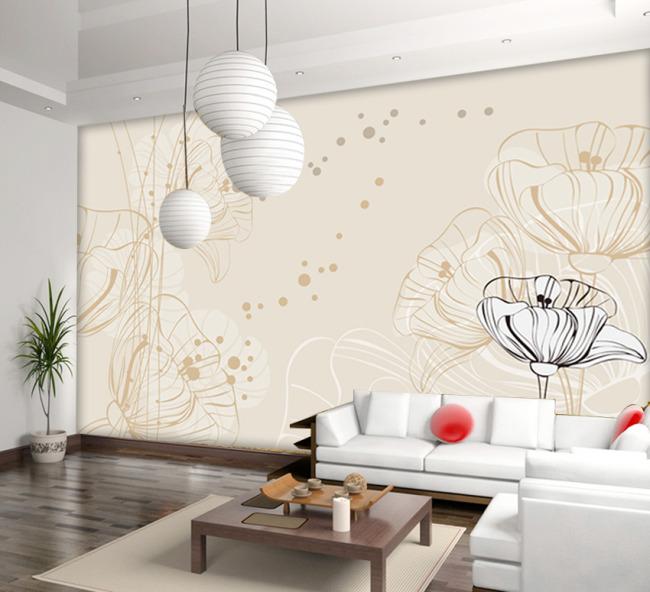 背景墙|装饰画 电视背景墙 手绘电视背景墙 > 手绘花朵电视背景墙  下