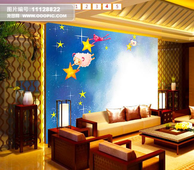 客厅电视背景墙模板下载(图片编号:11128822)