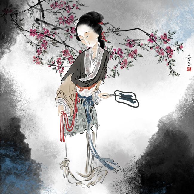 手绘美女下载 手绘仕女图下载 手绘古装美女唯美唯美图片美女 水墨 水