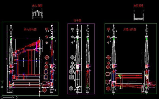 柱子床结构图