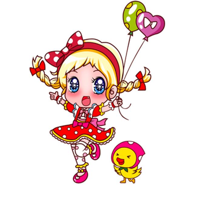 卡通女孩可爱女孩模板下载图片编号:1113601