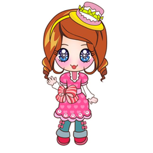 卡通女孩模板下载图片编号:11136088 插画