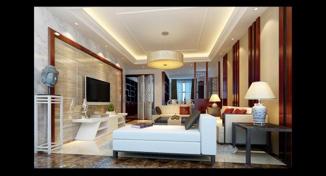 三室两厅装修设计图86