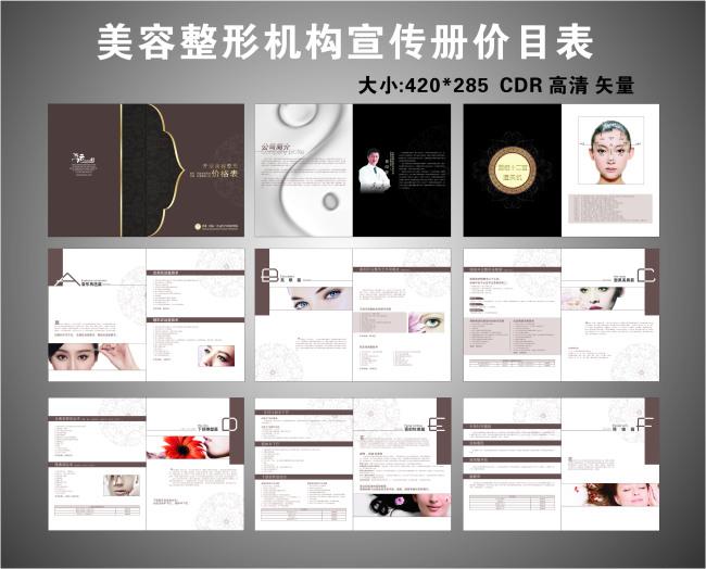 平面设计 画册设计 企业画册(封面) > 美容整形机构宣传画册  下一张&