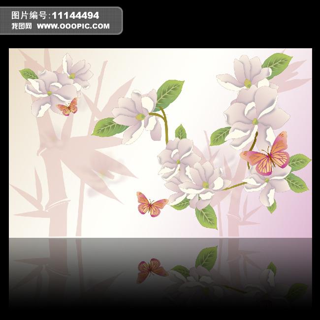 竹子开花节节高电视背景墙