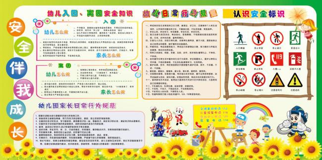 幼儿园安全宣传板报