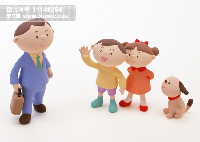手工卡通家庭成员