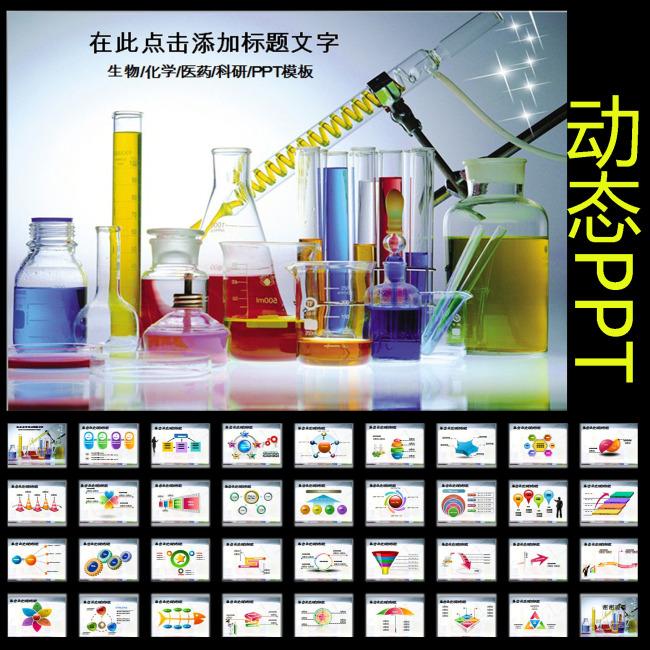 生物化学科学研究实验报告动态ppt模板下载