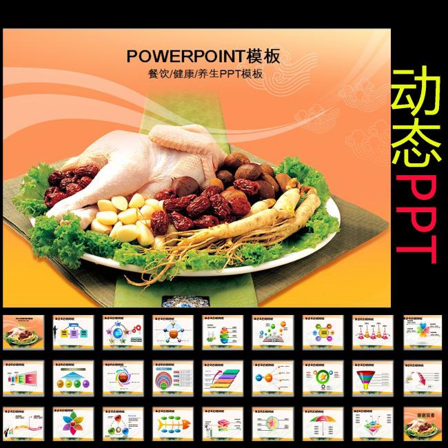 动态健康养生餐饮ppt模板模板下载(图片编号:11154729图片