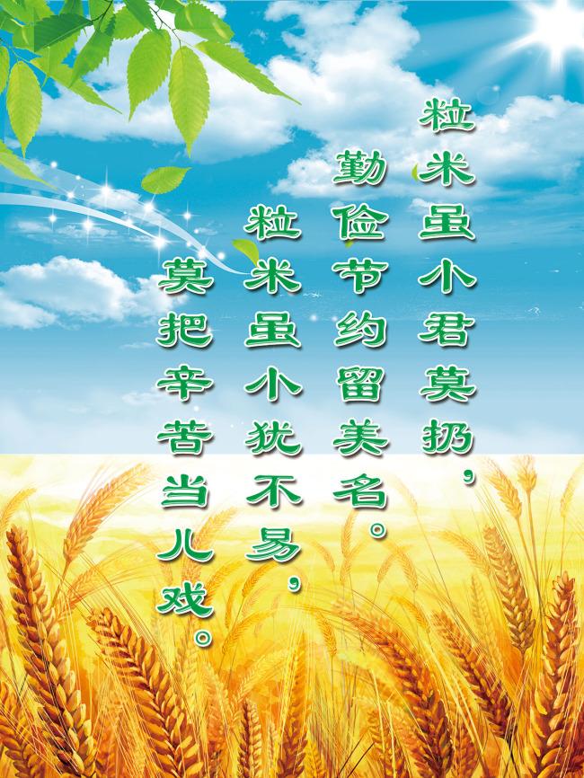 节约粮食海报图片
