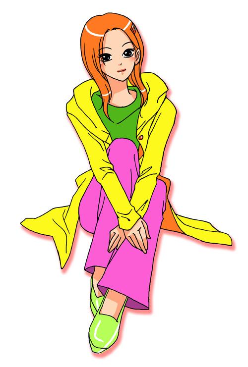 漫画插图卡通人物女孩初高中女生