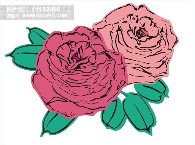 原创手绘玫瑰花