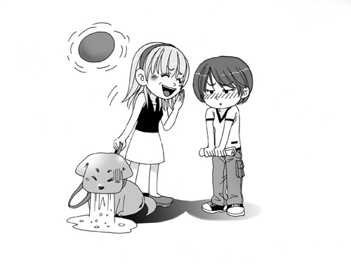 白底唯美卡通女孩图片