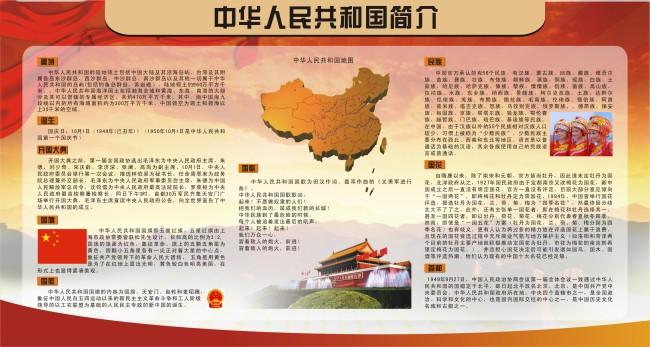 国家简介宣传栏设计模板图片下载 国家简介 党建宣传栏设计模板 学校