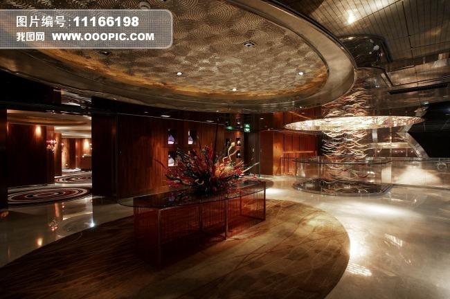 酒楼酒店饭店室内装饰模板下载