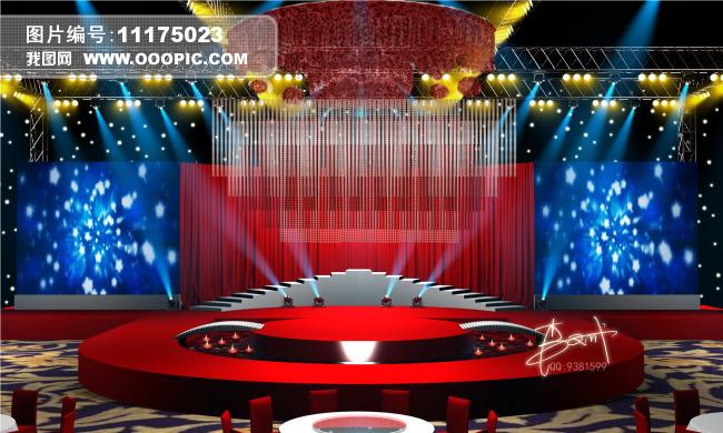 室内设计 整套3d模型 其他模型 > 婚礼舞台舞美设计效果图  下一张&