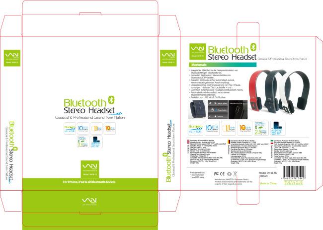 平面设计 其他 礼品|包装|手提袋设计模板 > 蓝牙无线耳机包装盒模板