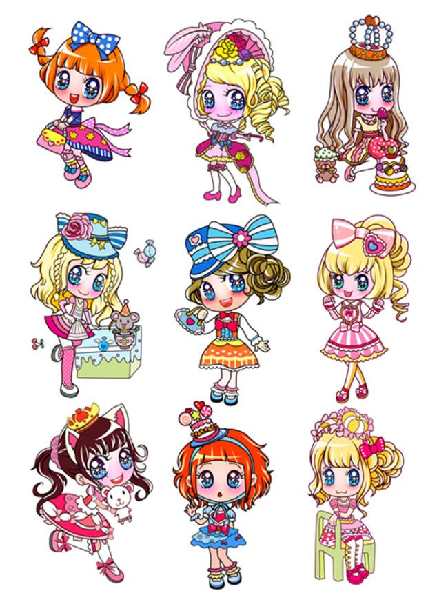 卡通女孩可爱女孩女孩子