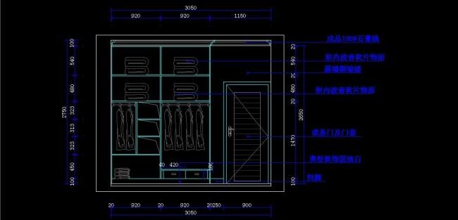小户型装修cad图纸模板下载 11187732 CAD图纸 背景墙