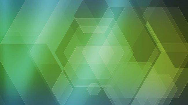 绿色多边形闪烁超高清视频背景素材模板下载(图片编号