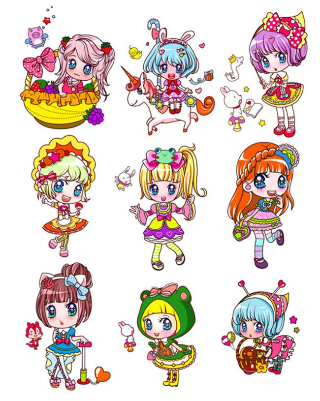 卡通女孩可爱卡通模板下载图片编号:1119217