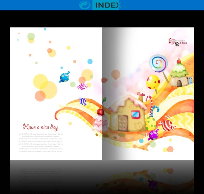 卡通学习学校幼儿园招生教育儿童画册设计模板下载