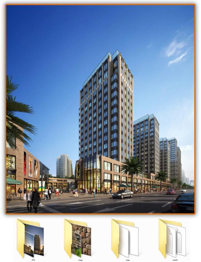 土木工程 建筑蓝图 城市建筑 商业内街 内街设计 效果图源文件